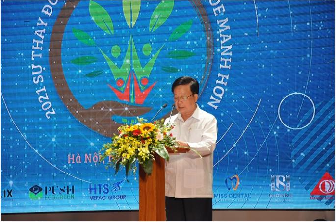 Chủ tịch VACHE, ông Nguyễn Hồng Quân phát biểu tại Chương trình